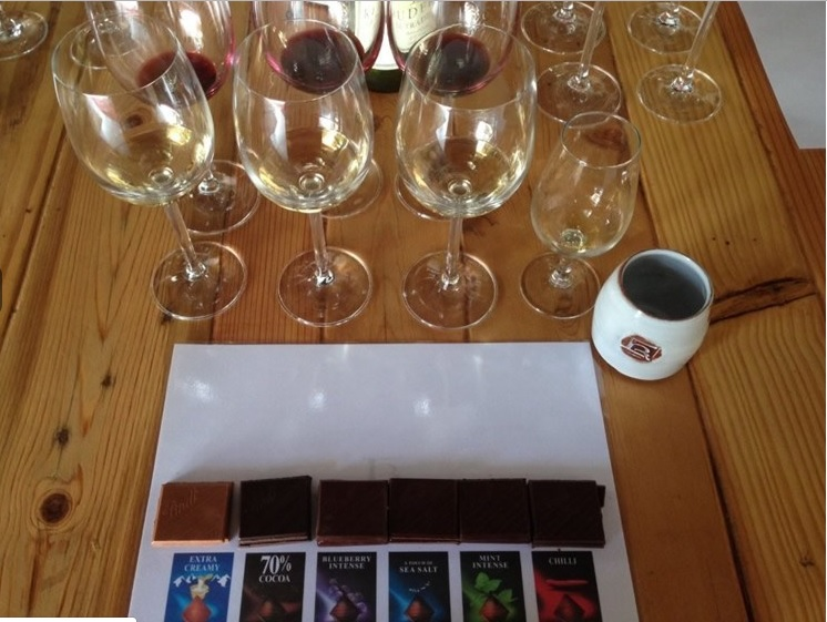 Rudera Wines - Lindt Chocolate and wine pairing
