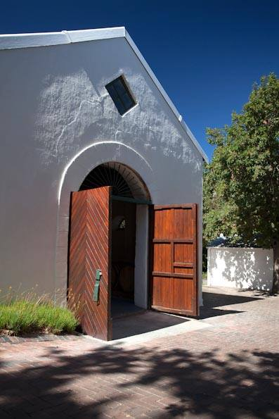 Rudera Wines new rustic tasting rooms in Jonkershoek Valley